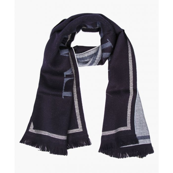 Image for Navy blue wool scarf