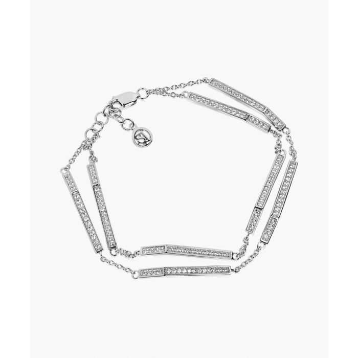 Image for Erto silver-plated zirconia bracelet