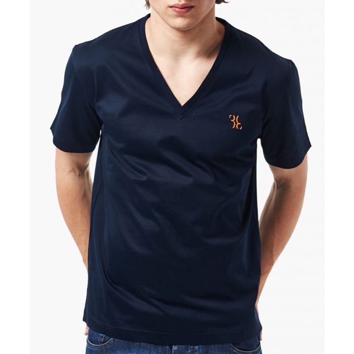 Image for Blue V-neck T-shirt