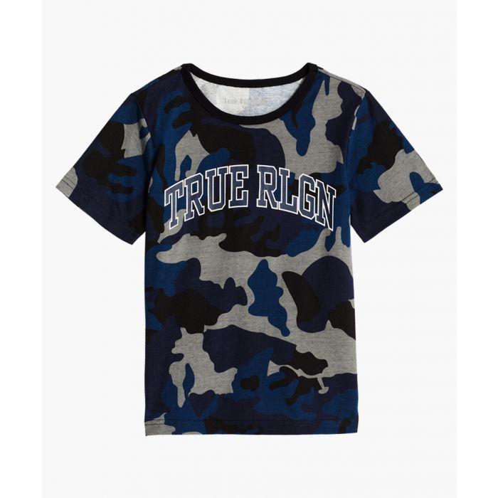 Image for Boys Classic Buddha navy blue cotton T-shirt