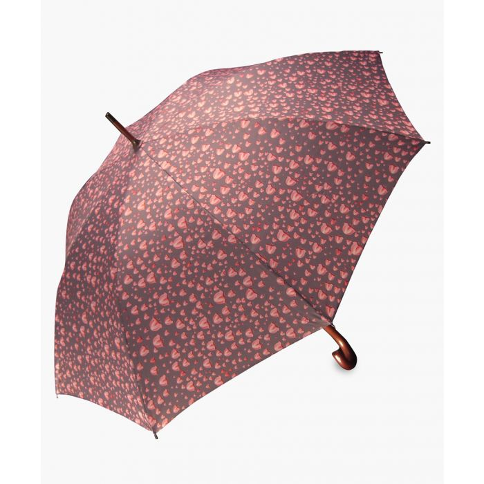 Image for Lilly of the valley grey and pink printed umbrella