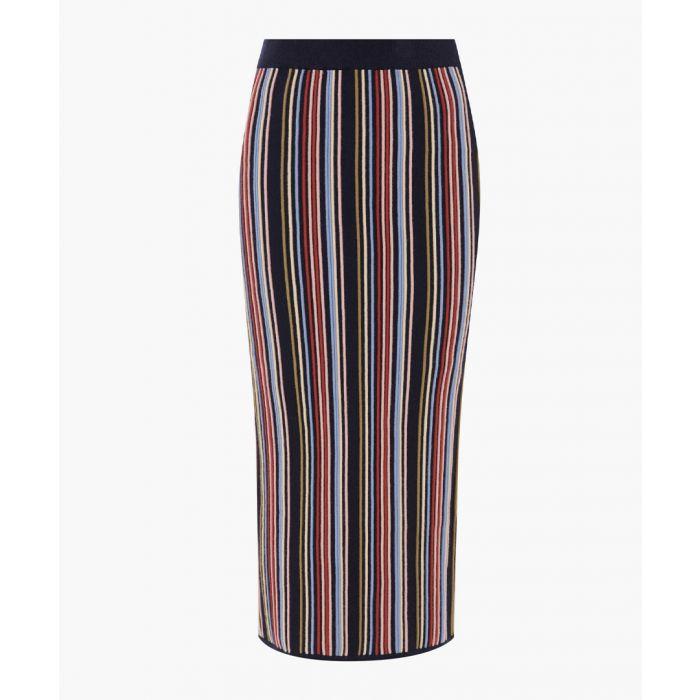 Image for Black Ottoman Stripe Skirt