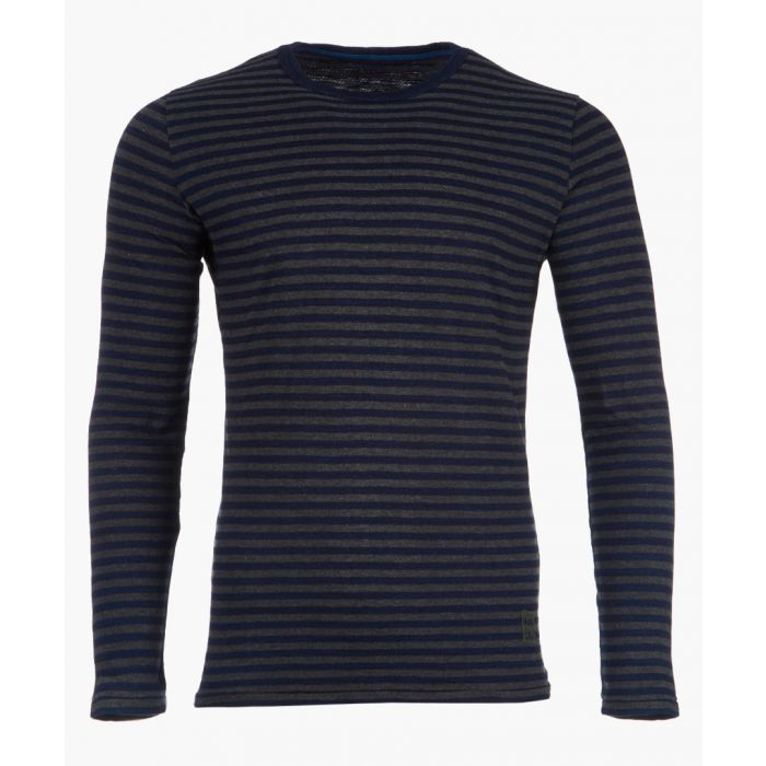 Image for Indigo striped long sleeved top