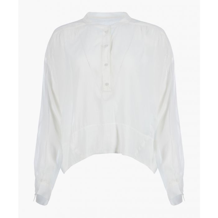 Image for Gail white henley top