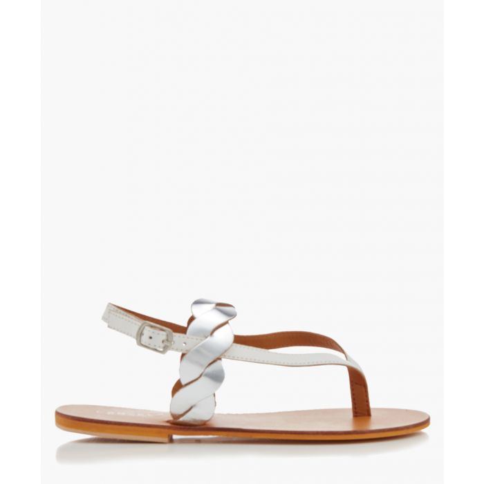 Image for Aim white braided sandals