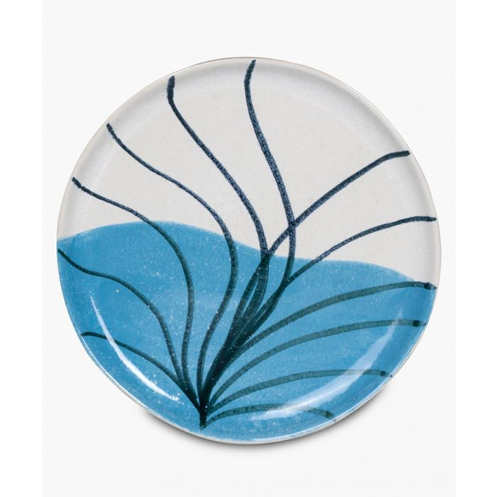 Image for Palmeral blue printed side plate