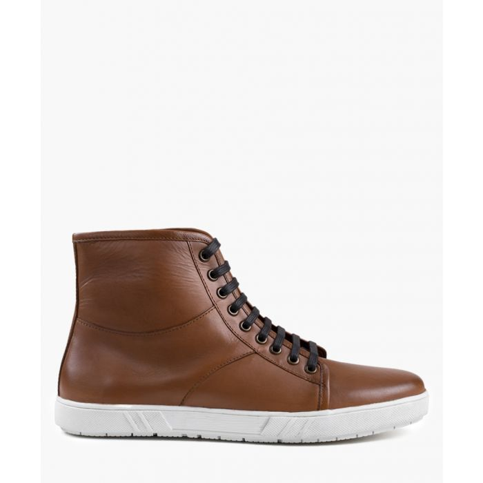 Image for Tan hi-top sneaker boots