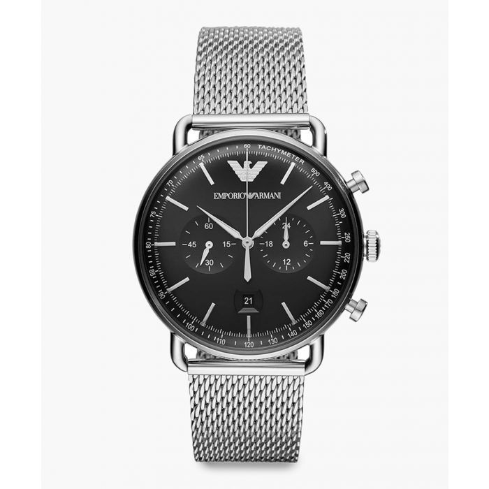 Image for Chronograph mesh metal watch