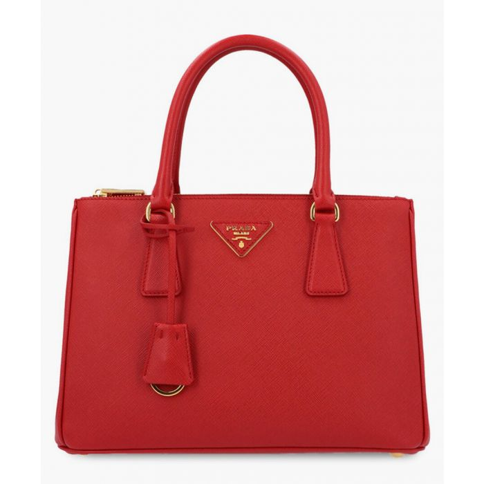 Image for Red leather grab bag