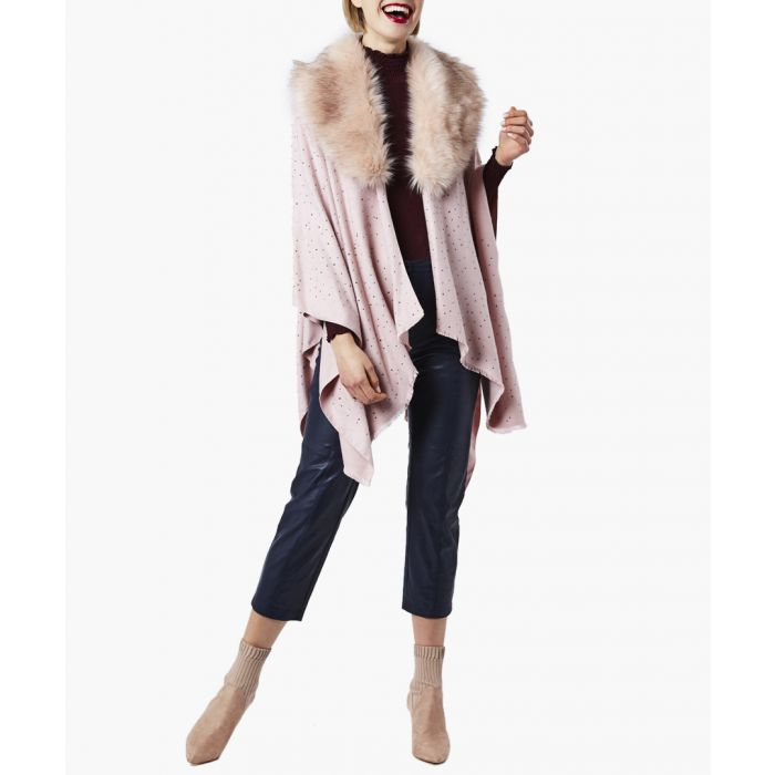 Image for Pink cashmere blend wrap