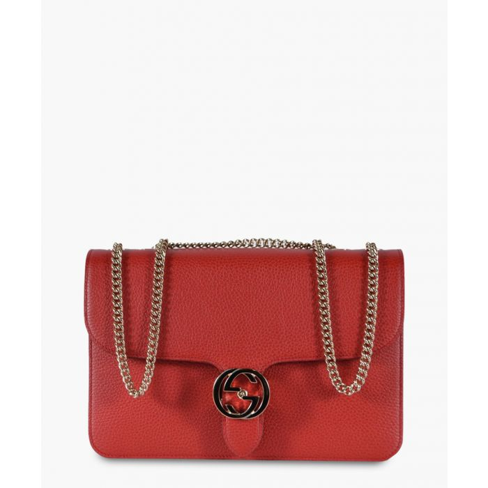 Image for Interlocking red leather crossbody