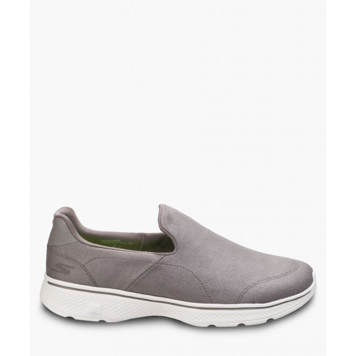 Image for Go Walk 4 khaki slip-on trainers