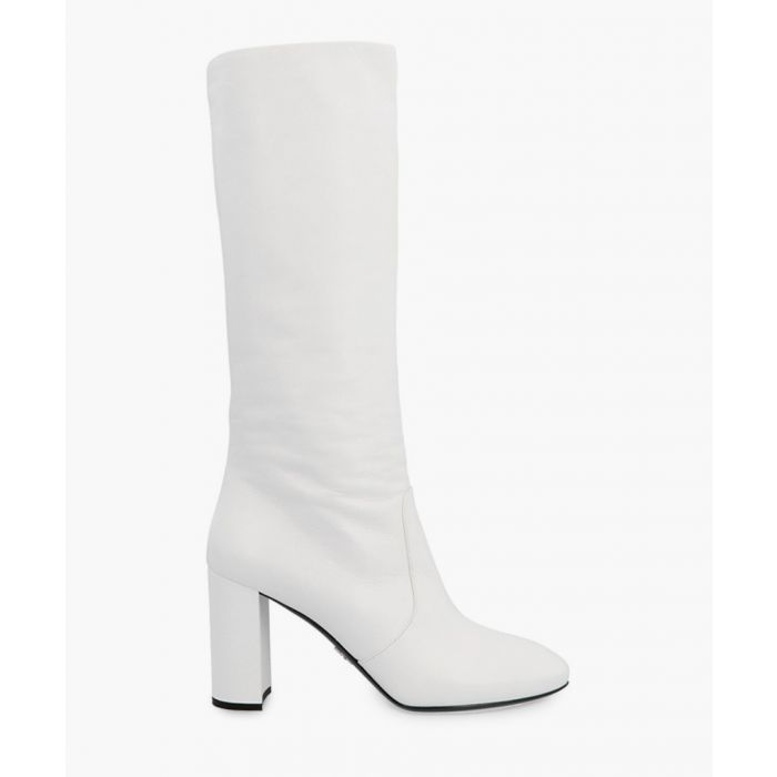 Image for White leather boots