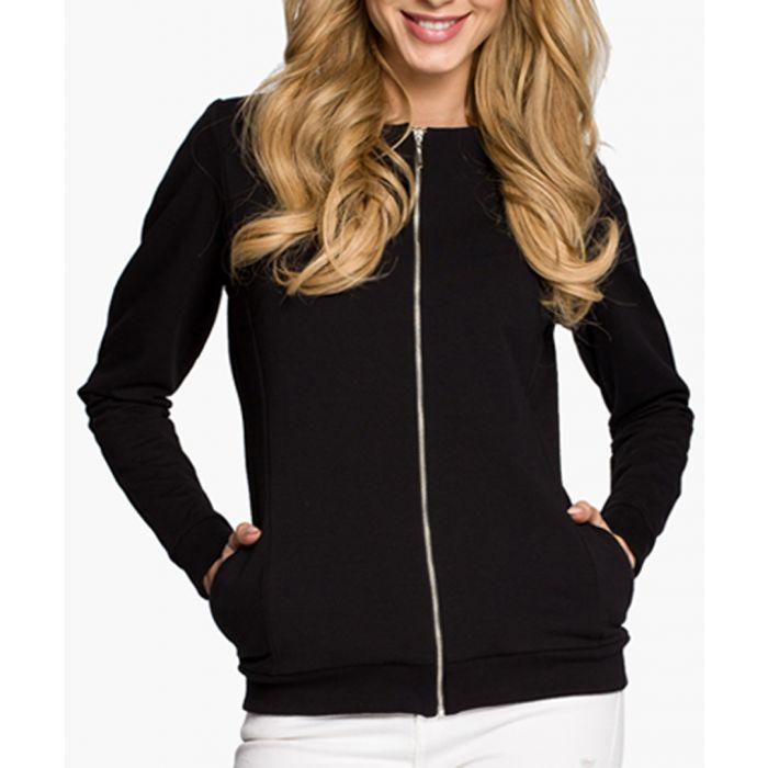 Image for Black Cotton Blend Blazer