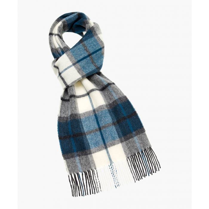 Image for Winchester natural and teal pure wool scarf