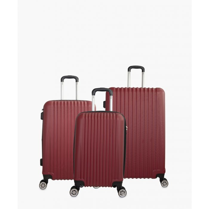 Image for 3pc red spinner suitcase set