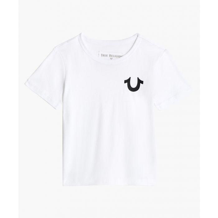 Image for Boys white cotton print T-shirt
