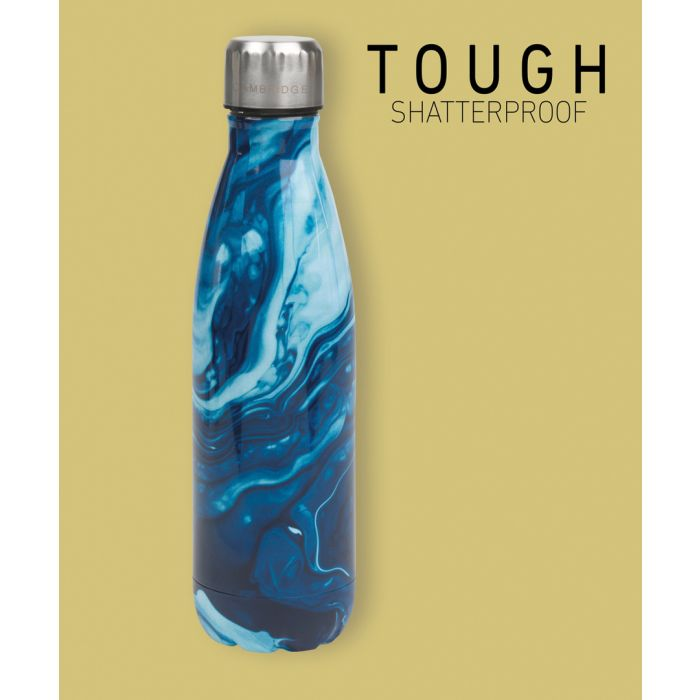 Image for Cambridge CM07012 Blue Marble BPA-Free Stainless Steel Flask, 500 ml
