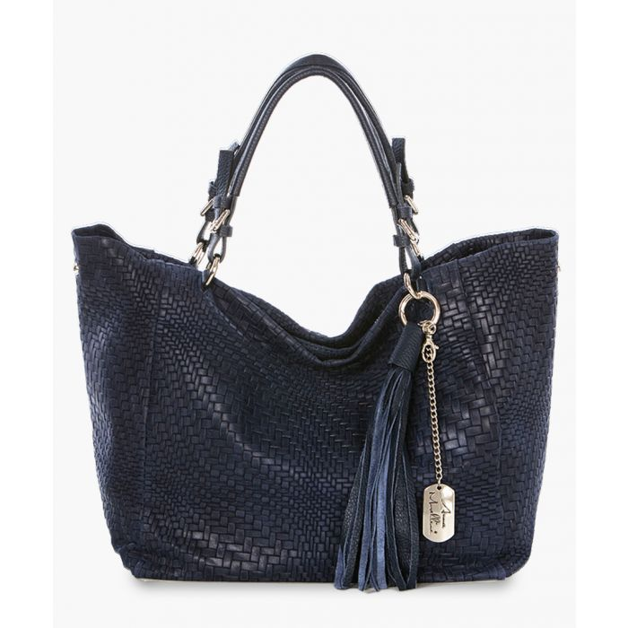 Image for Solana navy shoulder bag