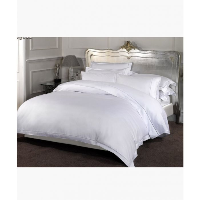 Image for Dorchester white pure cotton double fitted sheet