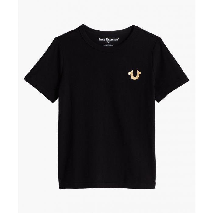 Image for Boys black logo T-shirt