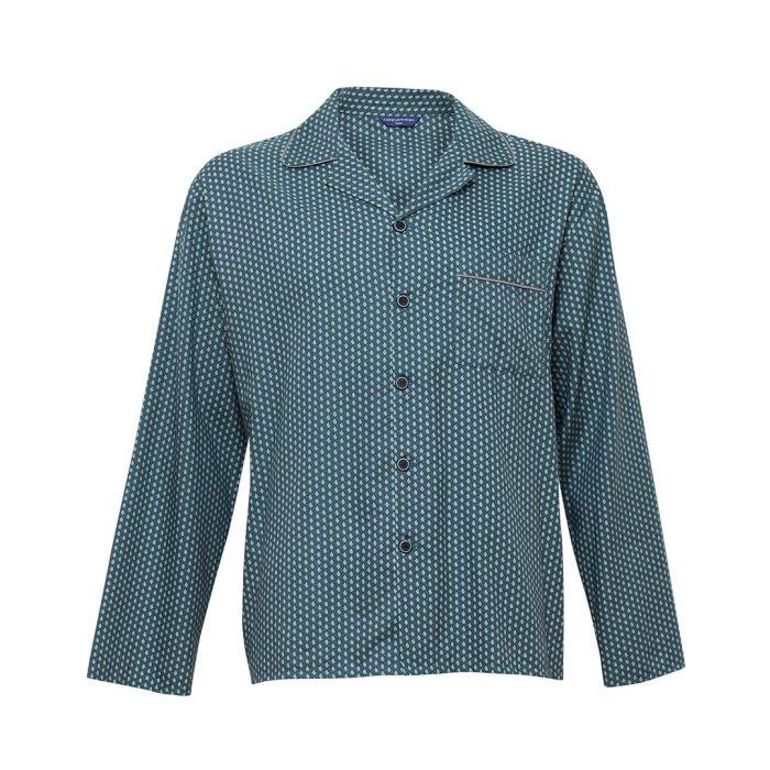 Image for Alfie green cotton-blend tile print pyjama top