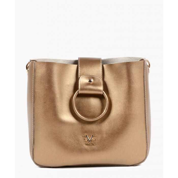 Image for Gold-tone faux-leather tote