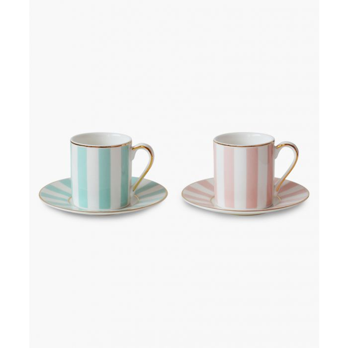 Image for 2pc Striped espresso cups