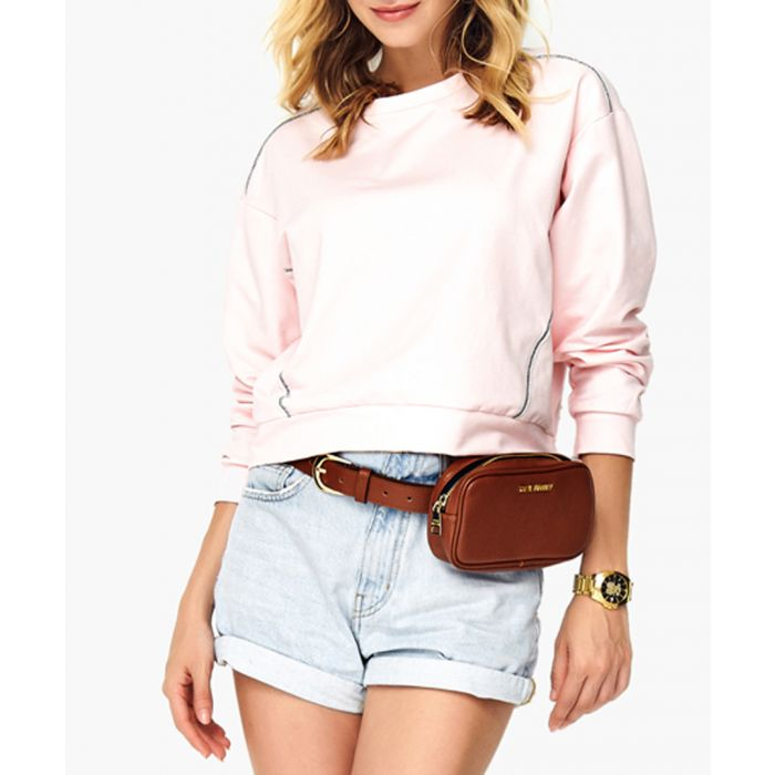Image for Powder pink cotton blend blouse