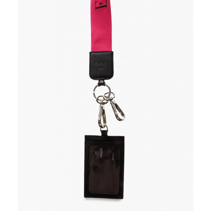 Image for Black leather document keyring