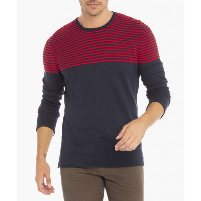 Image for Navy and red jumper