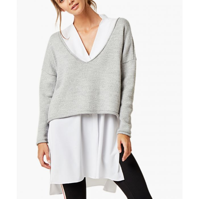 Image for Grey loose cut jumper