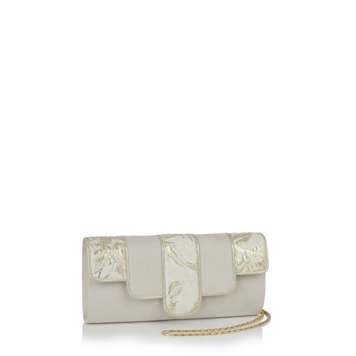 Image for Canberra cream & gold-tone clutch