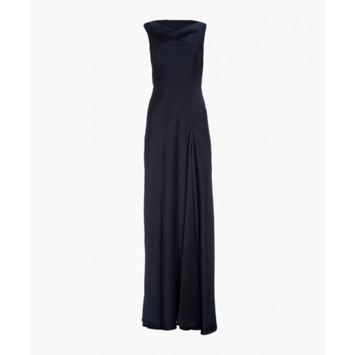 Image for Midnight satin bias cut dress