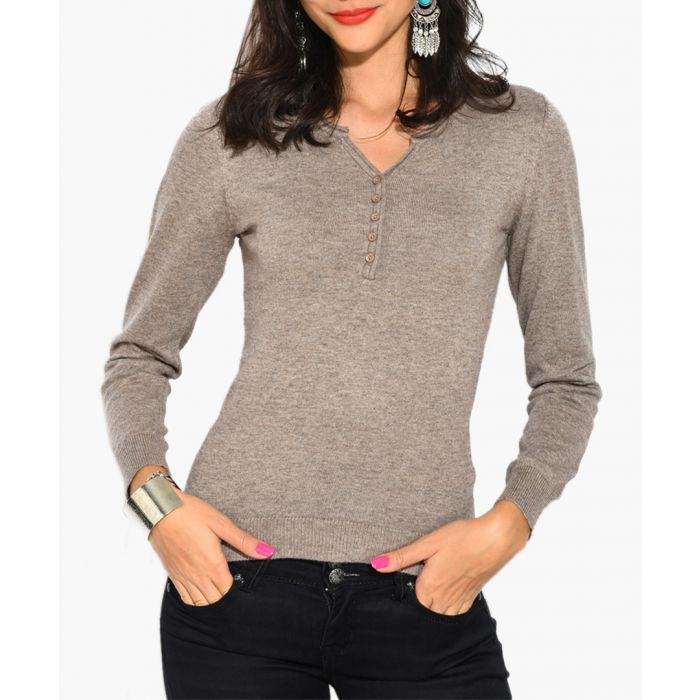 Image for Grey cashmere and silk blend jumper
