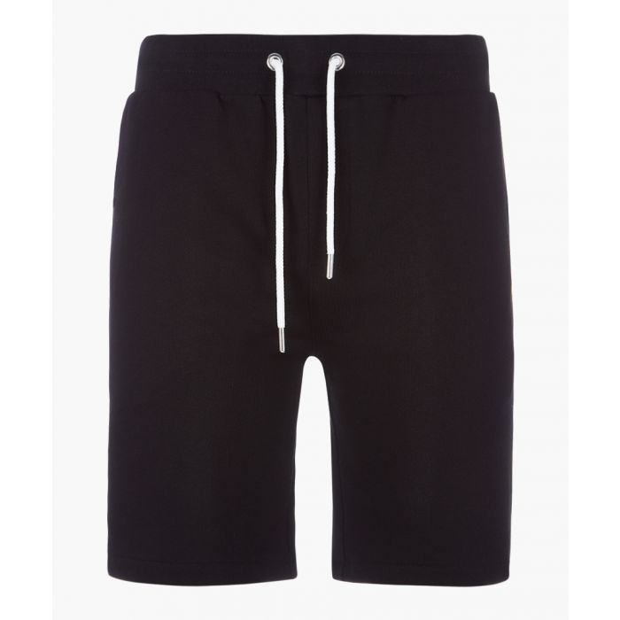 Image for black pure cotton jogger shorts