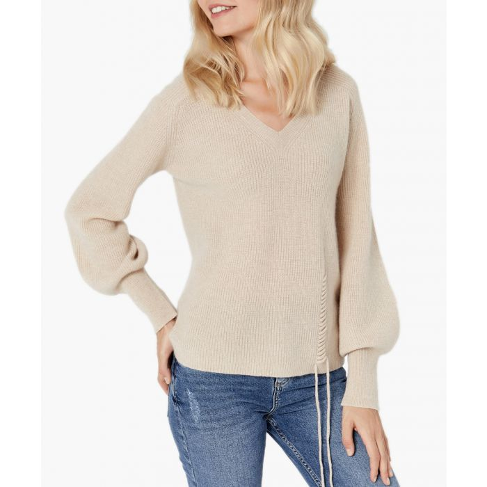 Image for Beige pure cashmere jumper
