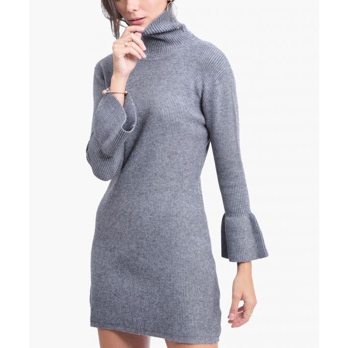Image for Grey cashmere blend dress