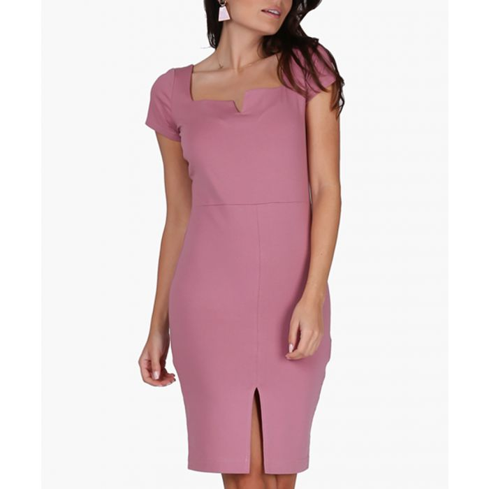 Image for Light pink cotton blend dress