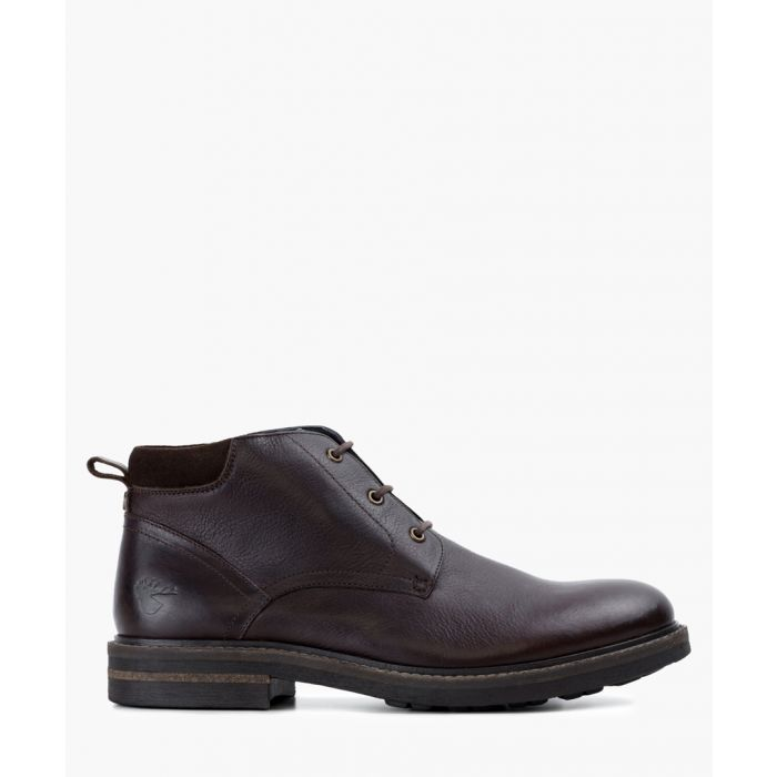Image for Dark brown leather boots