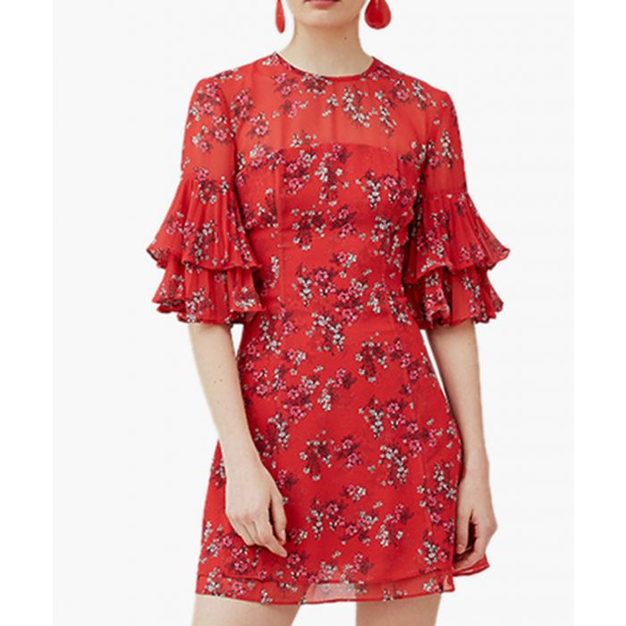 Image for Small Red Floral Heart And Soul Mini Dress