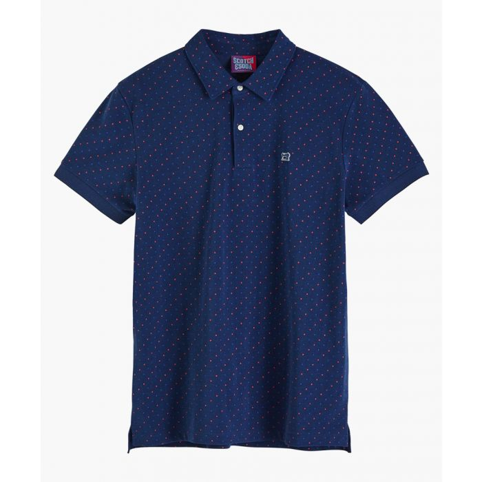 Image for Multi-coloured cotton pique polo shirt