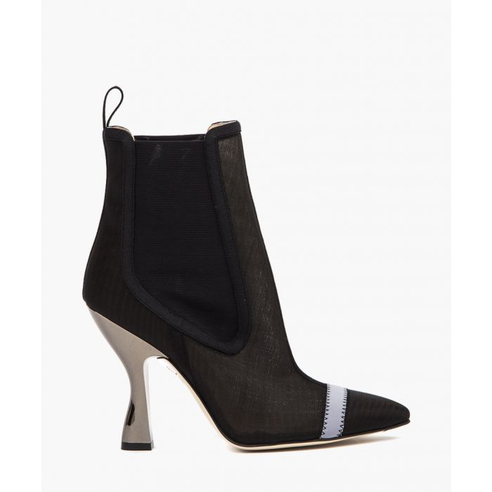 Image for Black nylon ankle boots
