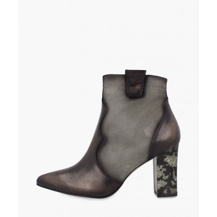 Image for Grey heeled ankle boots