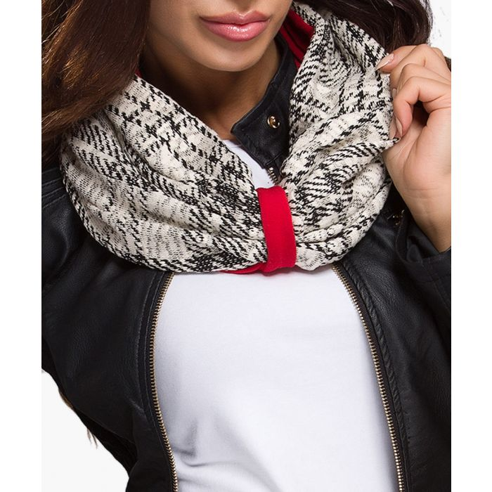 Image for Red cotton blend scarf