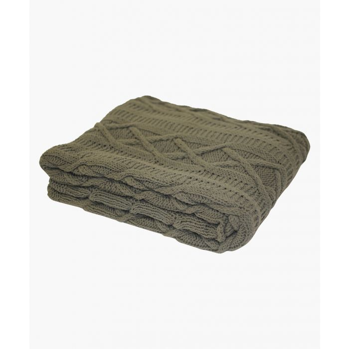 Image for Aran cotton charcoal throw