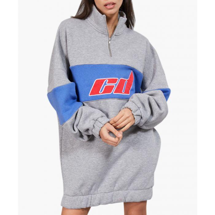 Image for Jaylee grey and blue sweatshirt dress