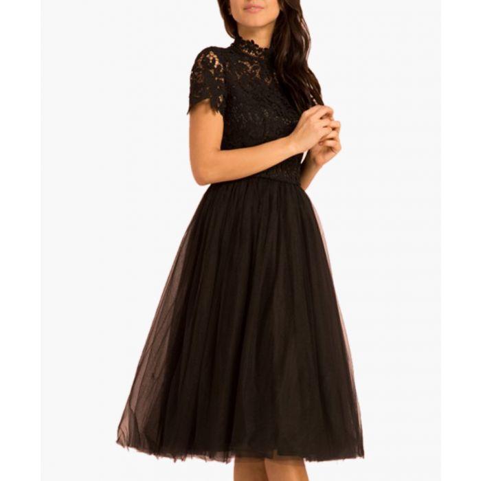 Image for Bronte black midi dress