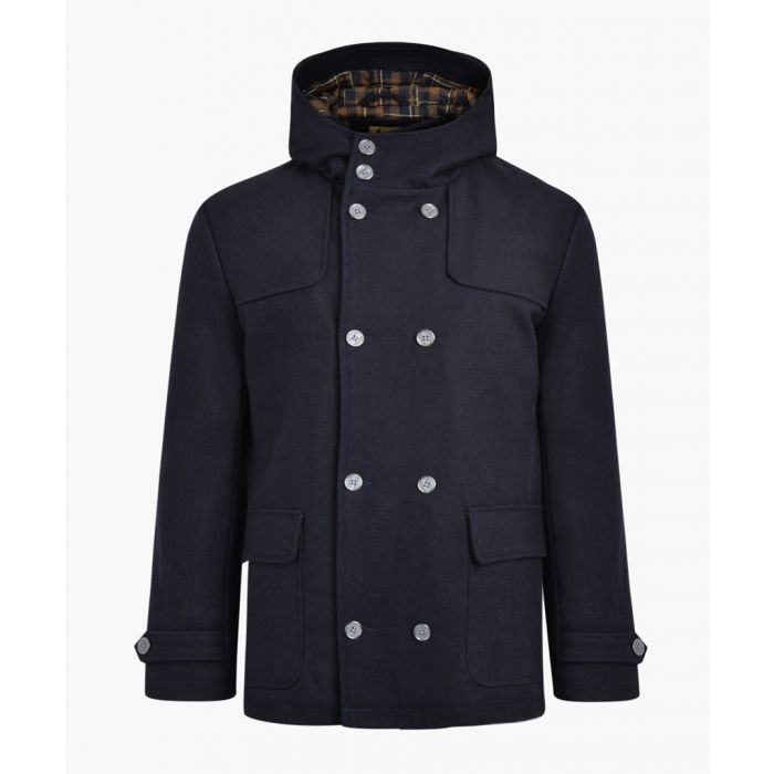 Image for Navy wool blend duffle coat