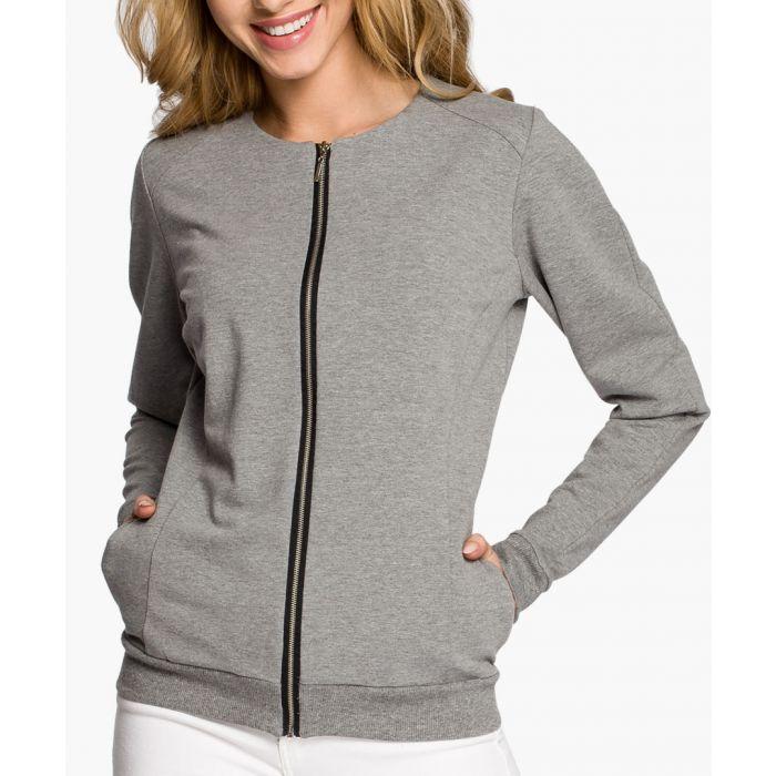 Image for Grey Cotton Blend Blazer
